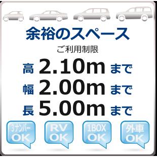 駐車場の入庫可能車種